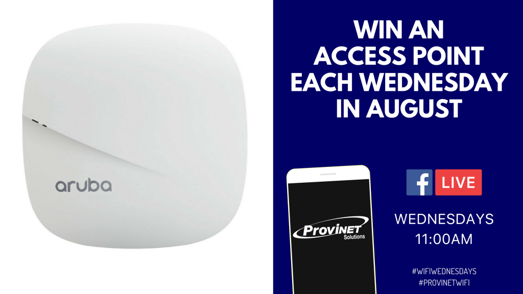 Win an Access Point Each Wednesday in August