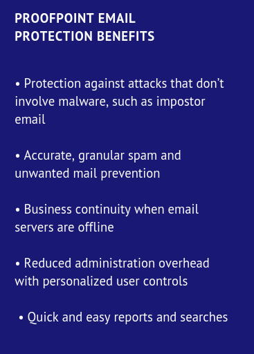 Proofpoint Email Protection Benefits
