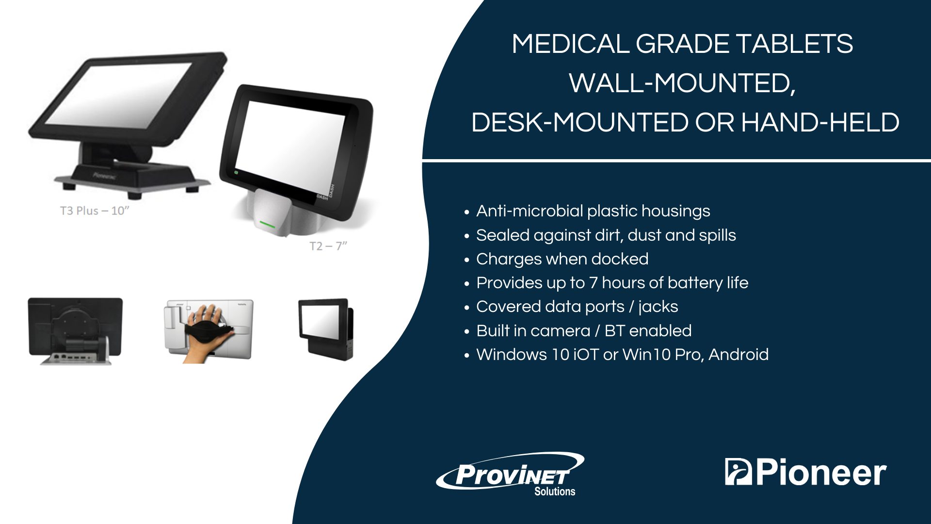 Medical Grade Tablets Wall-Mounted, Desk-Mounted or Hand-Held