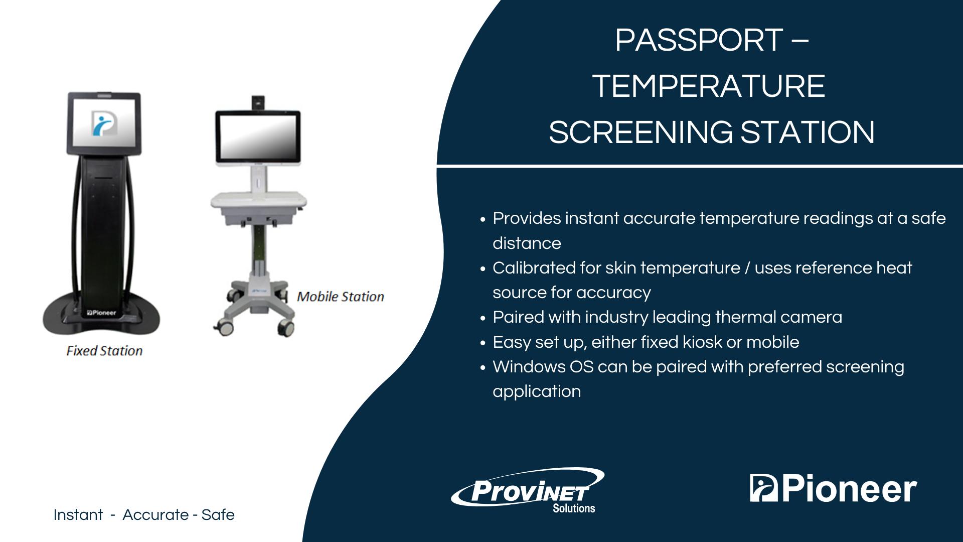 Passport – Temperature Screening Station