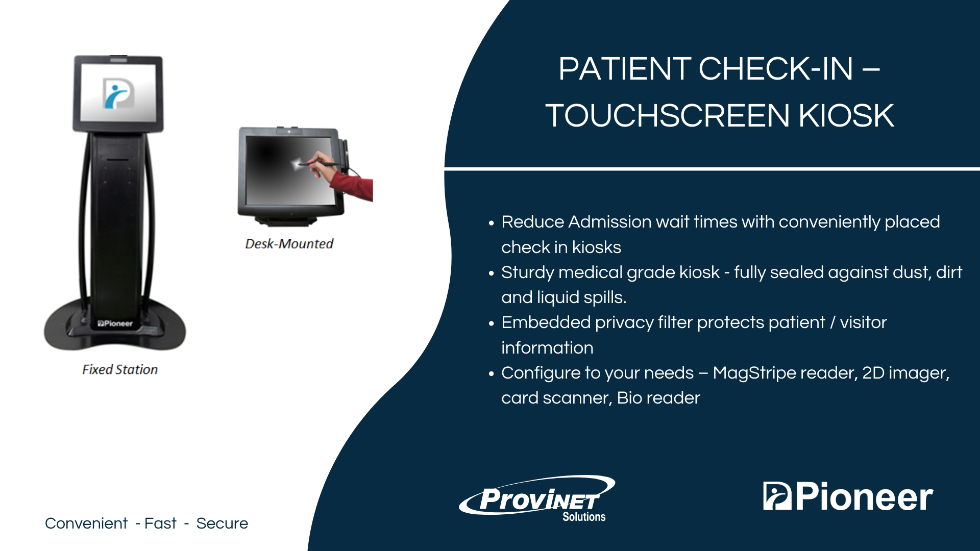 Patient Check-In – Touchscreen Kiosk