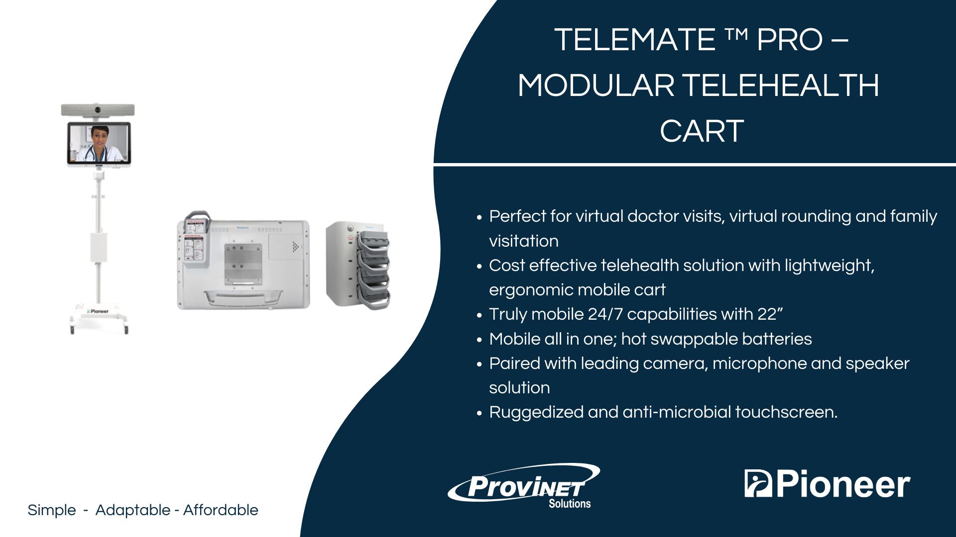 TeleMate ™ PRO – Modular Telehealth Cart